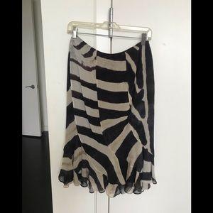 Saint Laurent Logo Silk Skirt
